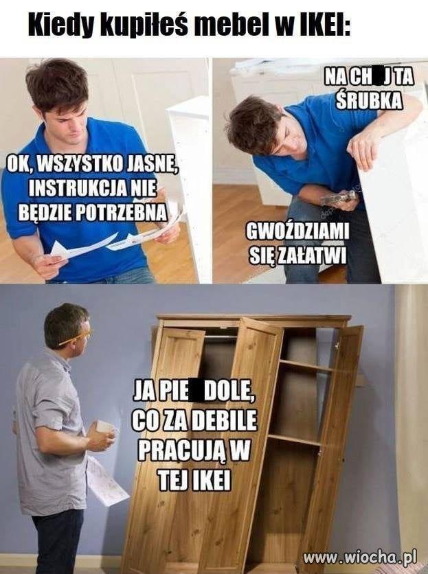 Meble z Ikeii