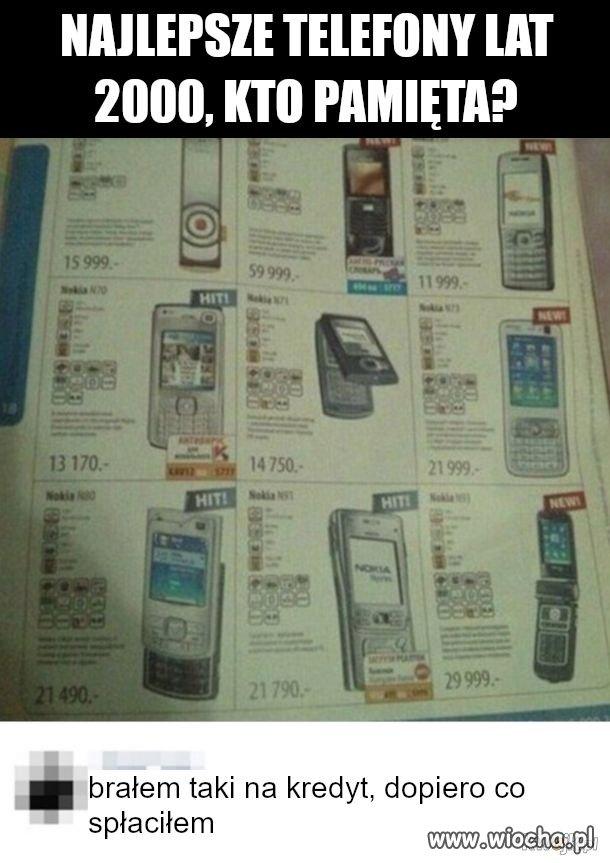 Telefony lat 2000