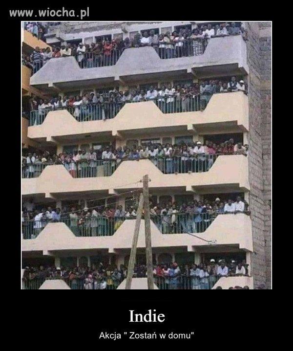 Tymczasem pandemia w Indiach