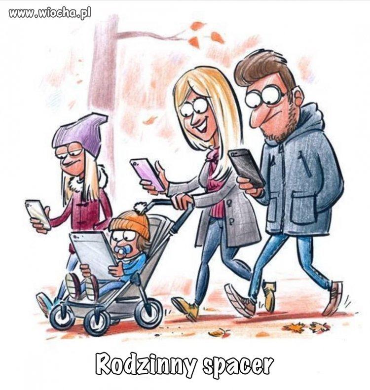 Rodzinny-spacer-oswietlona-aleja