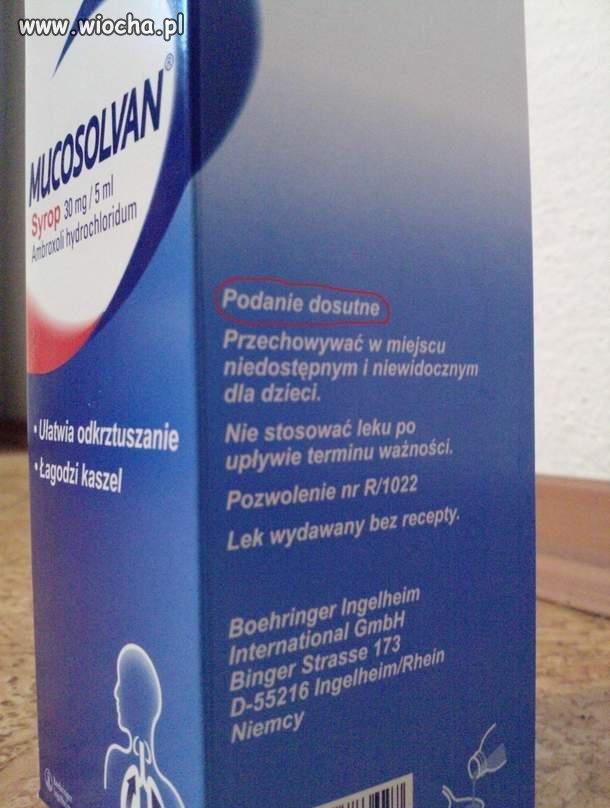 Nowa droga podania leku.