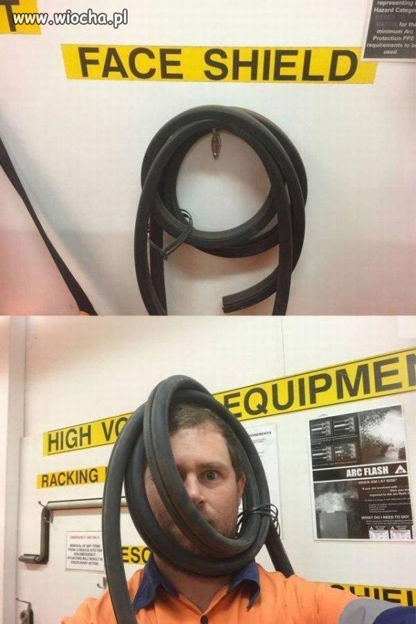 Zabezpieczenie na twarz