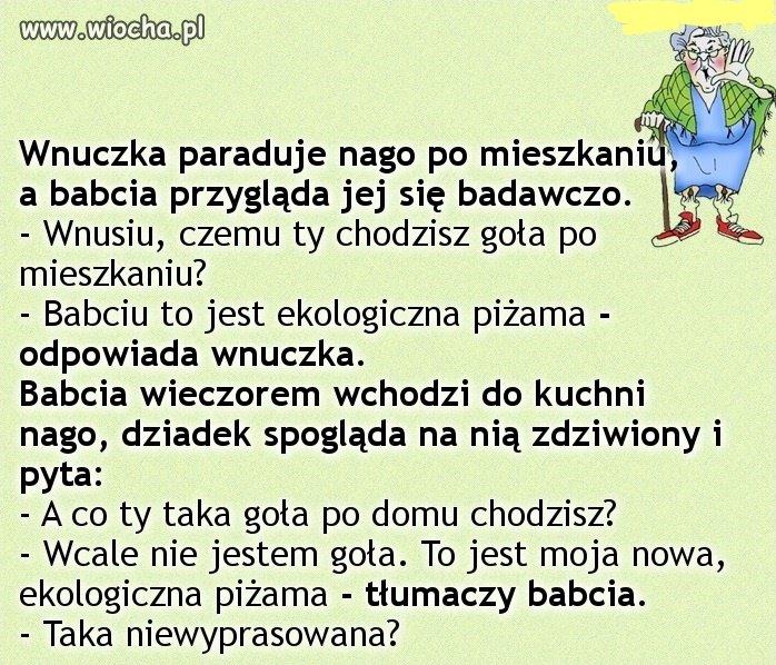 Babcia-w-pizamie