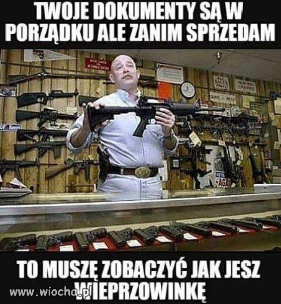 Sprzedawca broni.