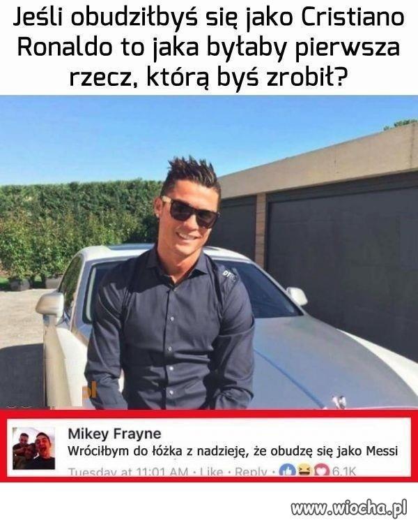 Co robisz najpierw jako Ronaldo