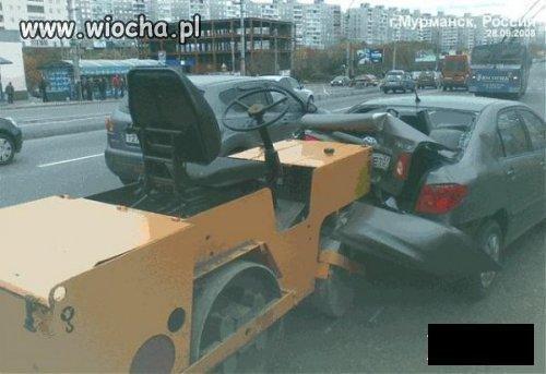 Kierowca walca drogowego zeznaje: