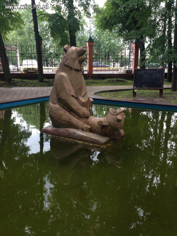 Sztuka w miejskim parku.