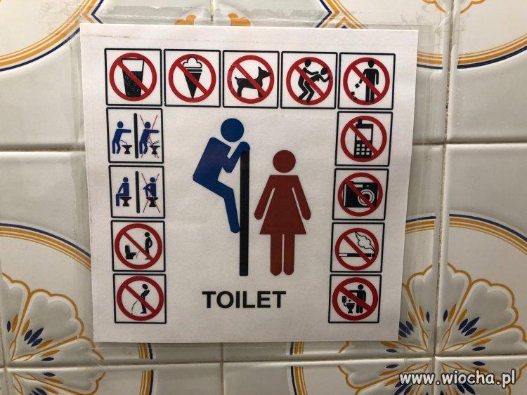 Toaleta w Grecji.