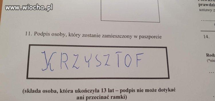 Wniosek paszportowy
