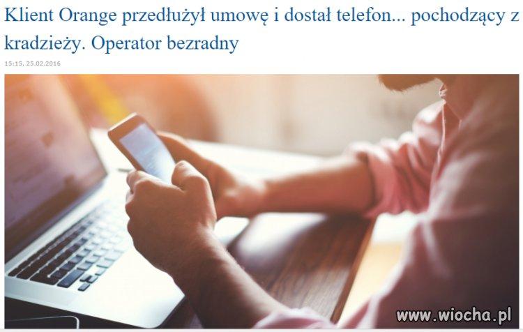 Orange rozdaje klientom kradzione telefony...