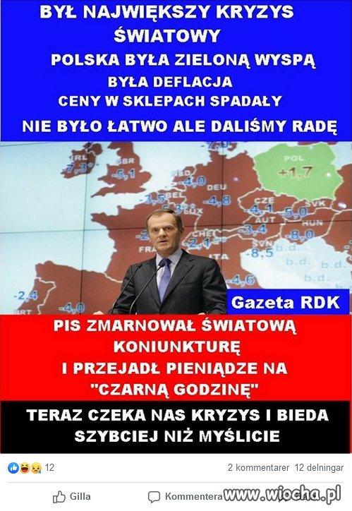 DONALD TUSK: Polska byla zielona wyspa...