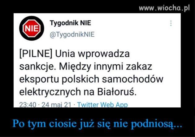 To bedzie prawdziwy cios dla Lukaszenki...