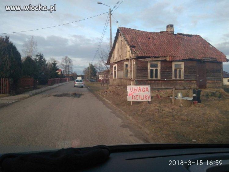 Podlasie-miejscowosc-Zaczerlany-zabezpieczona-drogi