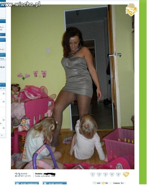 Ciocia seksowna Mama kąpie