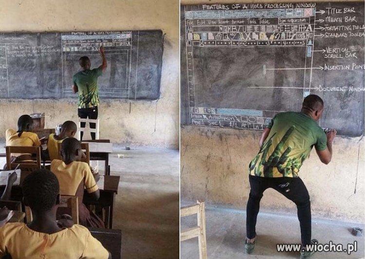 Nauczyciel informatyki w Afryce