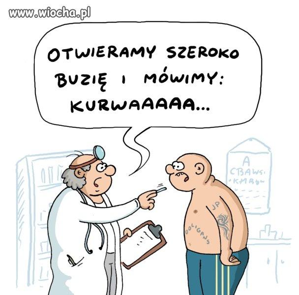 Lekarz bada narodowca