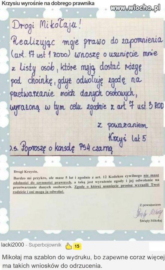 List-do-Mikolaja