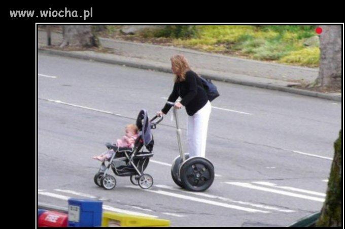 Spacerek z dzieckiem