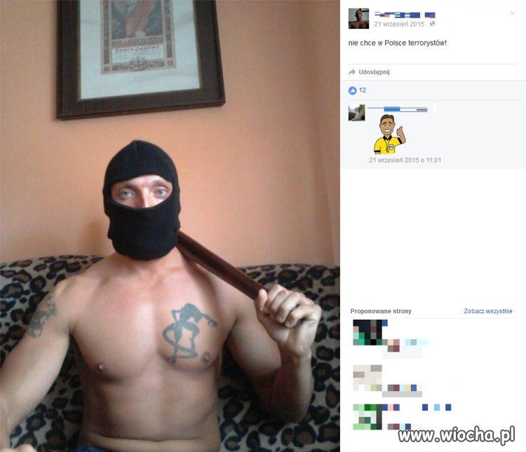 Prawilna mordeczka na fejsbuku