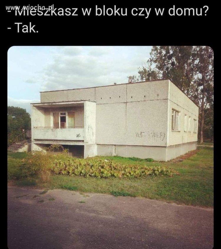 Mieszkasz w bloku, czy w domu?