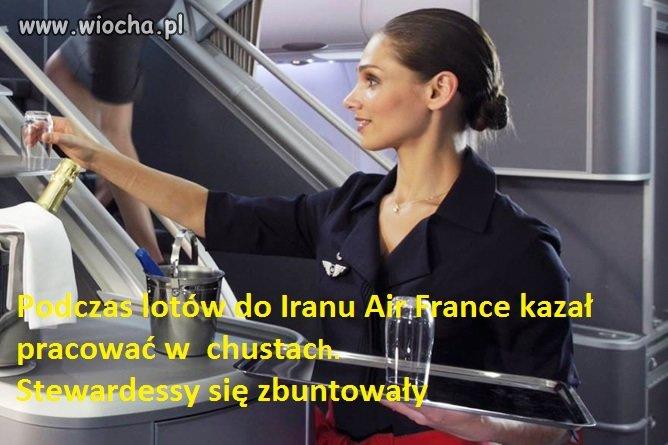 Air-France-nakazal-prace-w-chustach
