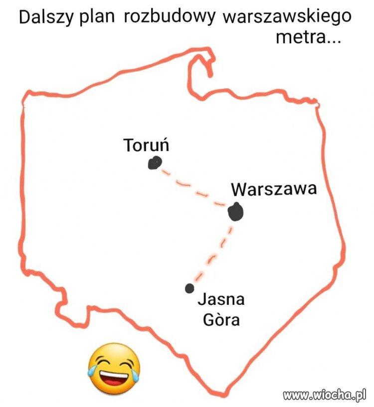 Nowe linie metra warszawskiego