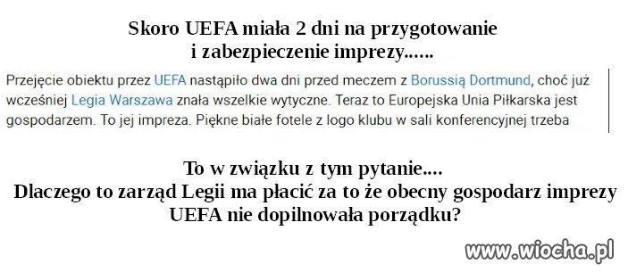UEFA gospodarz stadionu Legii