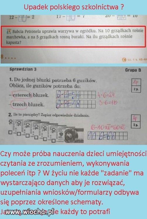 Upadek polskiego szkolnictwa