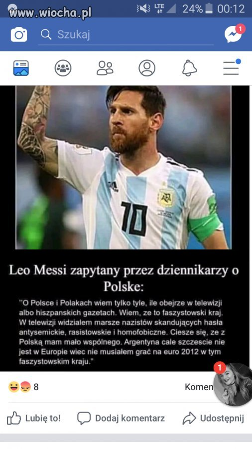 Messi o Polsce