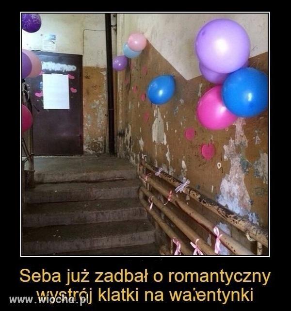 Romantyczna klatka na walentynki