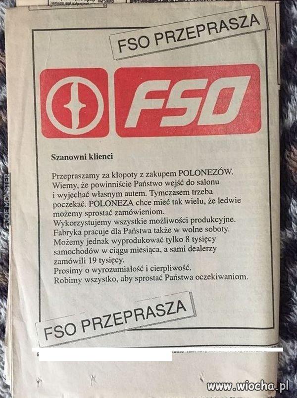FSO przeprasza
