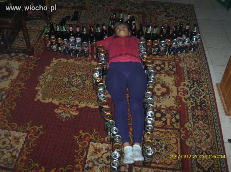 Ciekawy efekt przelewania alkoholu