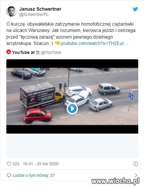 Po-Warszawie-jezdzila-furgonetka-z-napisem