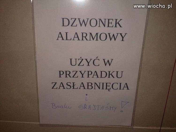 Taka informacja w szpitalu