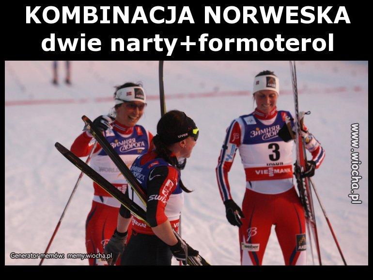 KOMBINACJA NORWESKAdwie = narty+formoterol