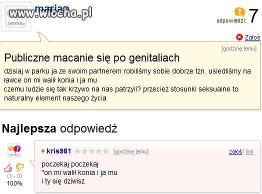 Publiczne macanie po genitaliach...