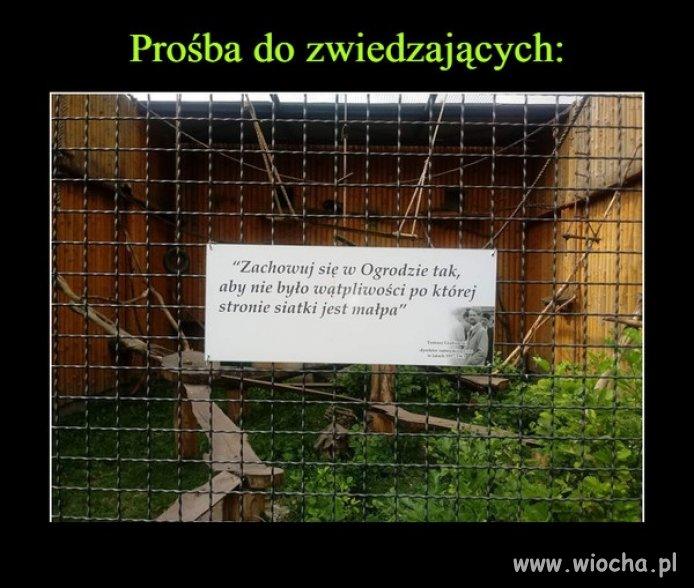 A w pewnym ogrodzie zoologicznym