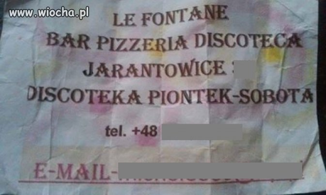 No... Le Fontane discoteca , do zobaczenia w Piontek !