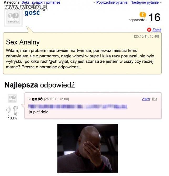 Problem z analem